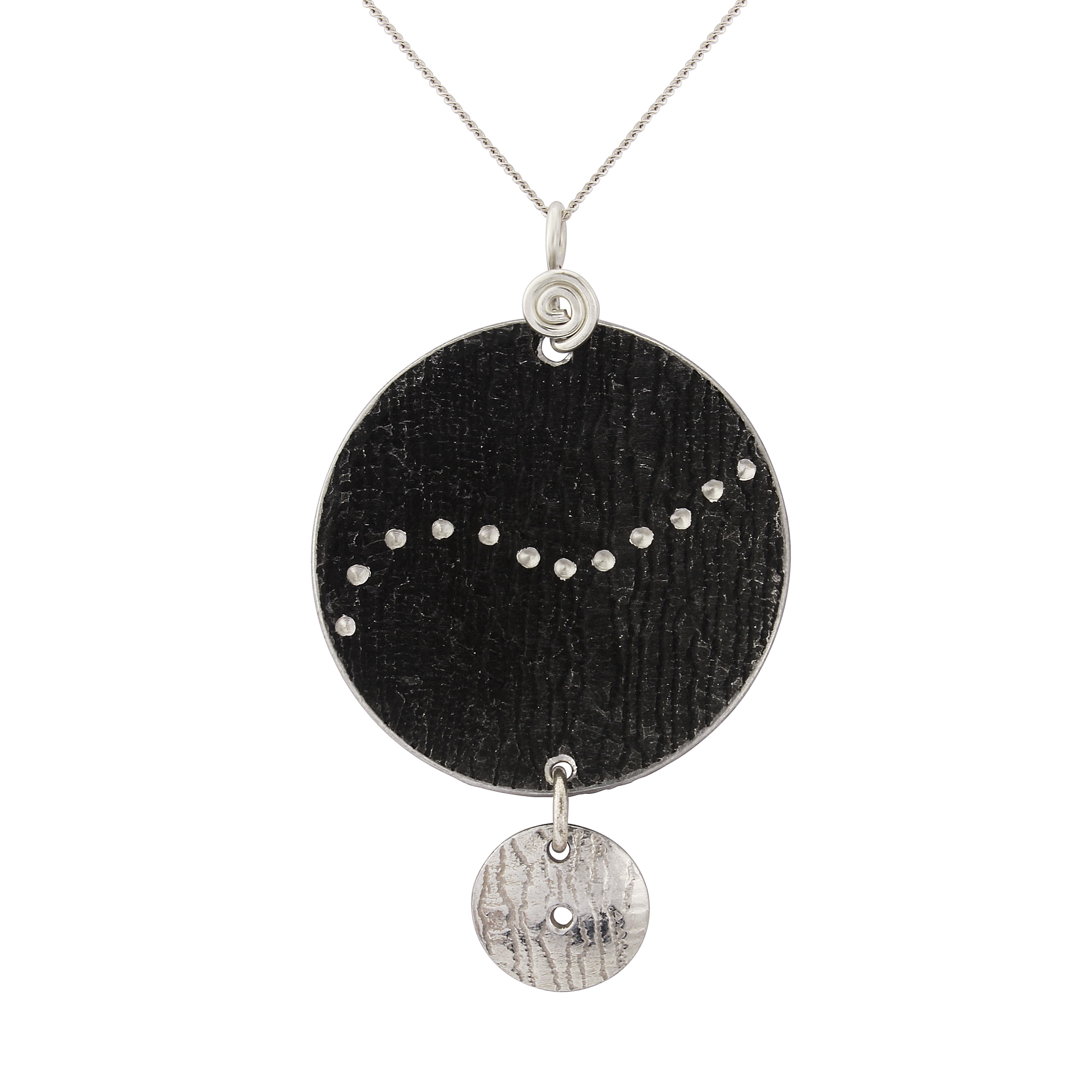 pendant necklace by baguette necklaces products round diamond mikolay collections white desires in gold